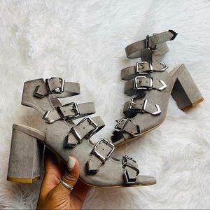 TopShop Chunky Strap Heels